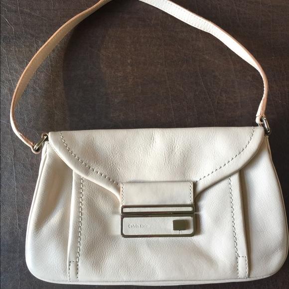 Calvin Klein Handbags - Calvin Klein Cream Toggle Bag - NWOT